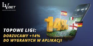 LVbet bonus na najlepsze piłkarskie ligi 2018!