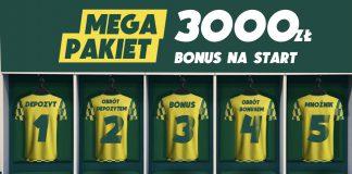 Bonus powitalny w Betfan to 3000 PLN! A na dodatek - 100 PLN ekstra!